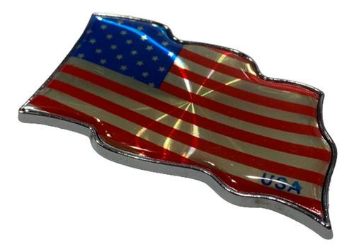 Sticker Adhesivo Plastico Bandera Estados Unidos X 2 B4