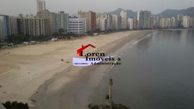 Apartamento 1 Dormitório Frente Ao Mar Biquinha Sv! - 2093/1
