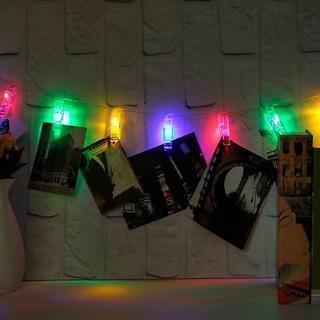 Tira De Luces Led Broches Multicolor Con Enchufe 2,7 Metros
