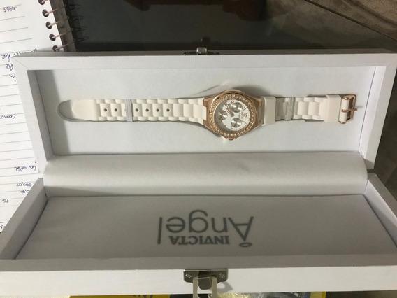 Relógio Invicta Feminino 1646 Ouro Rose 18 K Com Perolas