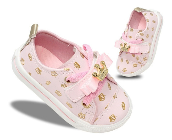 Tenis Princesas Infantil Feminino Moda Modinha Meninas