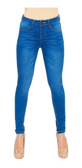 Pantalon Jeans Dama Mujer Mezclilla Azul Ajustado Skinny