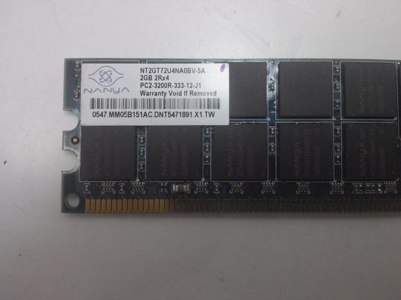 Memória Ddr2 Servidor 2gb 2r X4 Pc2 3200r Ecc 400mhz