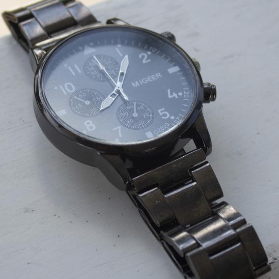 Relógio De Pulso Masculino Importado Original Migeer Preto