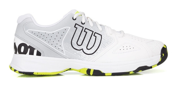 Tênis Wilson Kaos Devo Branco Cinza E Verde Limão