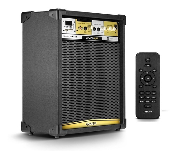 Caixa Som Multiuso Mf400 Bluetooth Ios Controle Remoto Frahm