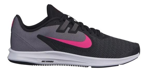 Zapatillas Nike Downshifter 9 Negro Y Fucsia