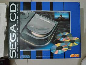 Sega Cd Com Caixa, Manual E Nota Fiscal Da Epoca