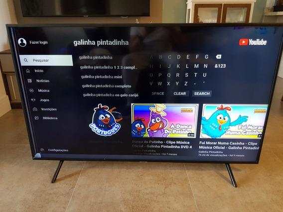 Televisor Samsung 58 Polegadas Ru7100 - Display Quebrado