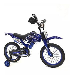 Bicicleta Infantil Nene Moto Cross Rodado 16 Babymovil 7111