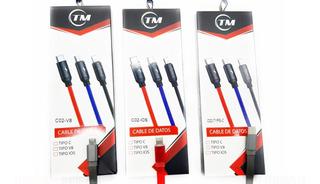 Cable De Datos Tm C02 - 3.5a - V8 - Ios - Tipo C 1 Metro