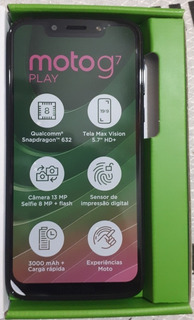 Moto G7 Play Edição Especial 32gb Azul Na Caixa Sem Uso