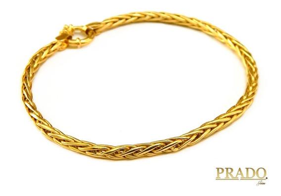 Pulseira Feminina Palmeira Em Ouro 18k Com Nota Fiscal