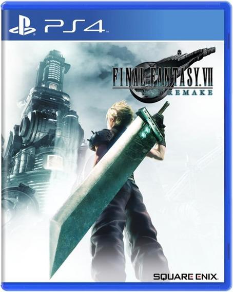 Final Fantasy Vii Remake Midia Fisica Lacrado Pré Venda Ps4