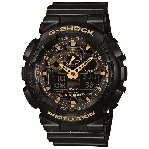 Relógio G-shock Ga-100cf-1a9dr Preto/dourado