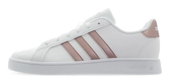 Tenis adidas Grand Court K - Ef0101 - Blanco - Niñas
