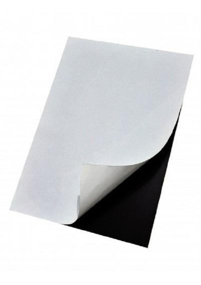 Manta Magnética Adesivada, Folha A4- Esp. 0,3 Mm - 10 Folhas