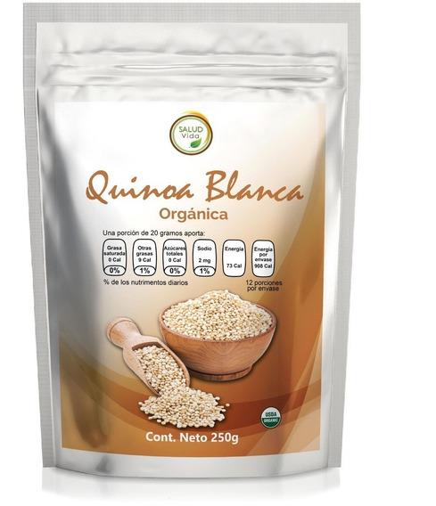 Quinoa Blanca Perlada 250 Gramos. Certificada Orgánica