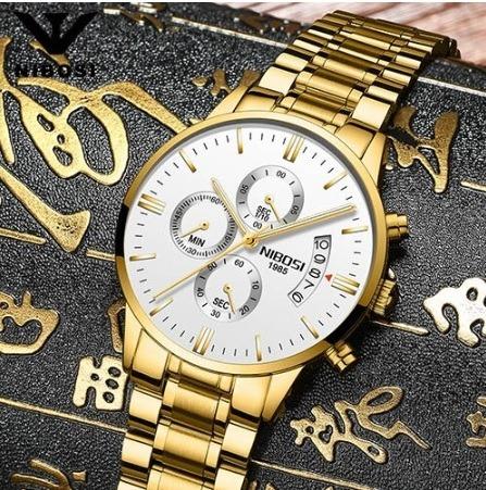 Relógio Importado - Nibosi - Vidro Safira - Original