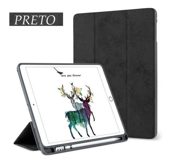 Capa Smartcase iPad 9.7 2017a 2019 -com Suporte Apple Pencil