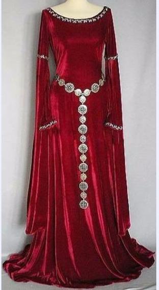 Vestido De Veludo Estilo Medieval