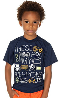 Roupa Infantil Menino Camiseta Manga Curta Estampada Isensee