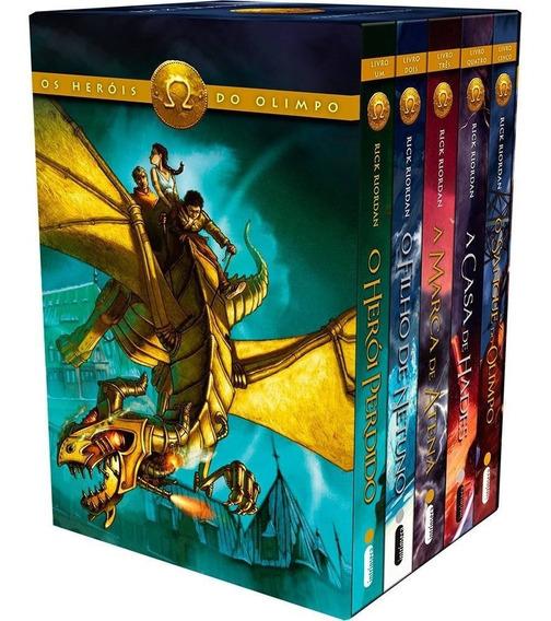 Box Os Heróis Do Olimpo Coleção 5 Livros Percy Jackson Novo
