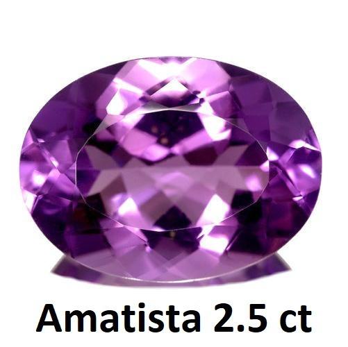 Amatista Corte Oval De 2.5 Quilates (ct)