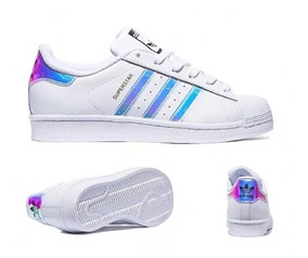 7d9c85c8bfd Tênis adidas Superstar Foundation Holografico 2019