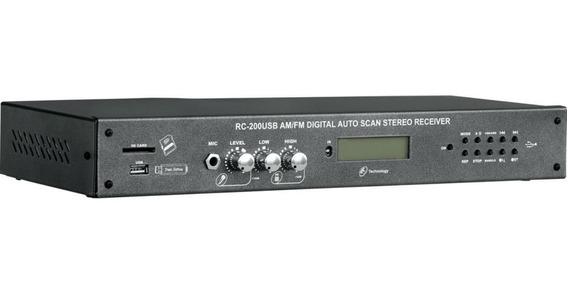 Receiver Digital Stereo Rc-200usb-am/fm - Nca
