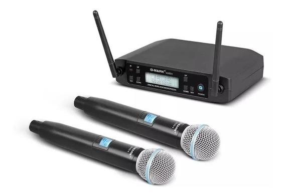 Microfone Profissional G-mark Glxd4 Duplo Beta 58a