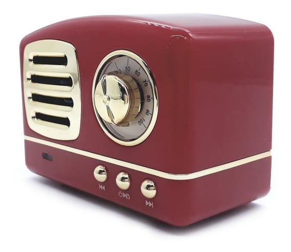 Caixa De Som Vintage Bluetooth Cs-a8 Usb Rádio Fm