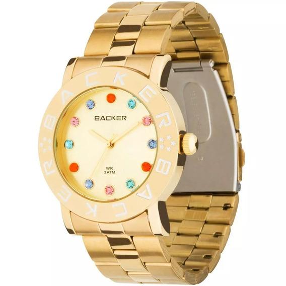 Relógio Feminino Analógico Backer Kassel 3300145f - Dourado