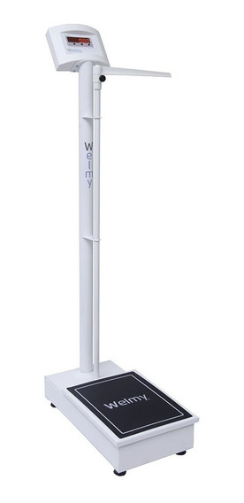 Balança Antropométrica Digital 200kg Divisão 100g Led -welmy