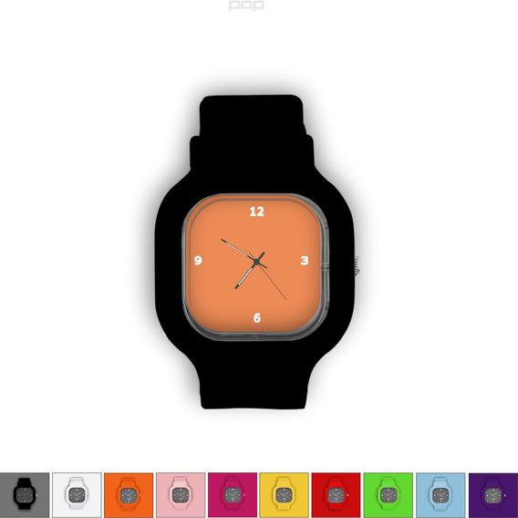 Relógio Pulseira Silicone Troca Cores Resistente Laranja