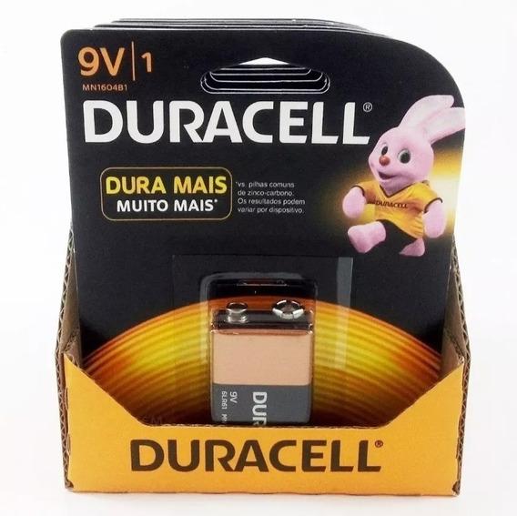 Bateria Duracell 9v - Kit C/12 Unidades Validade 2023