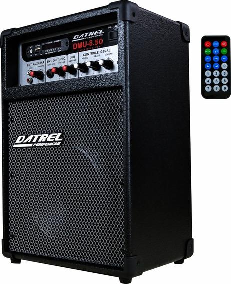 Caixa Caixa De Som Amplificada Microfone/guitarra Bluetooth