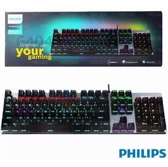 Teclado Mecânico Philips Spk8404 Switch Blue.