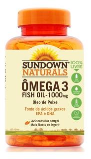 Fish Oil Sundown - Ômega 3 1000mg 320 Cápsulas Óleo De Peixe
