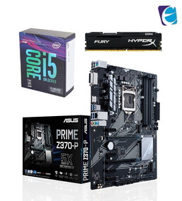 Kit Intel Core I5 8600k Asus Prime Z370p Hyper X 16gb Fury