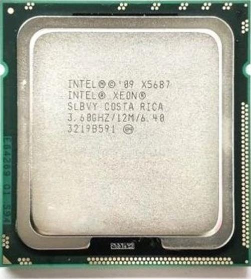 Intel Xeon X5687 Quad 3.60ghz 12mb 6.4 Gt/s Socket Lga1366
