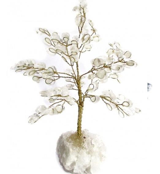 Árvore De Cristais G 20cm Base Em Cristal Bruto