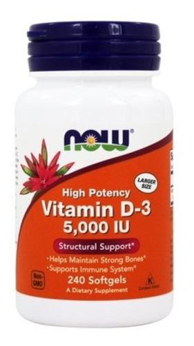 Vitamina D3 5000ui 240caps Now Foods Importado 100% Original