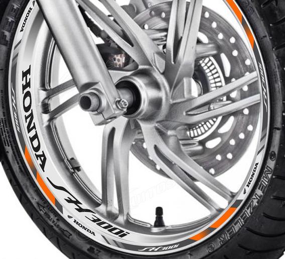 Friso + Adesivo Interno Refletivo D7 Roda Moto Honda Sh 300i