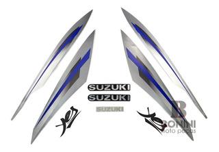 Kit Faixa Jogo Adesivo Suzuki Yes Prata 2009 / 2010