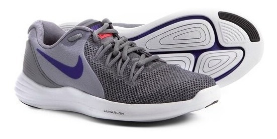 Nike Lunar Apparent Cinza/azul - 908987