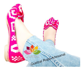 Flats Balerinas Rebozo Moño Artesanal Mexicanos Zapato