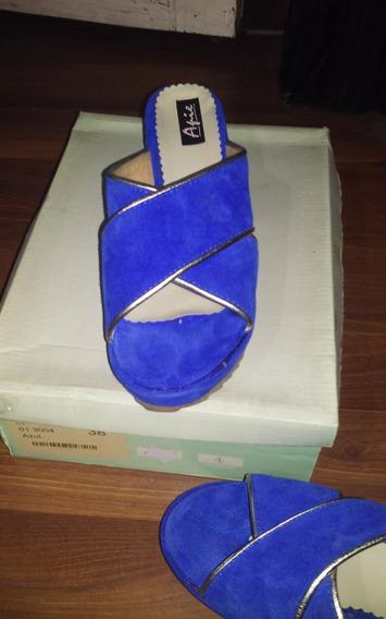 Sandalias Plataforma Nobul Azul Francia