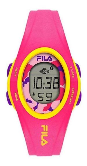 Relógio Feminino Fila Digital Pink Com Desconto