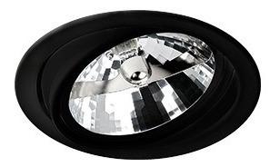 Kit 12x Spot Embutir Redondo Ar111 Preto